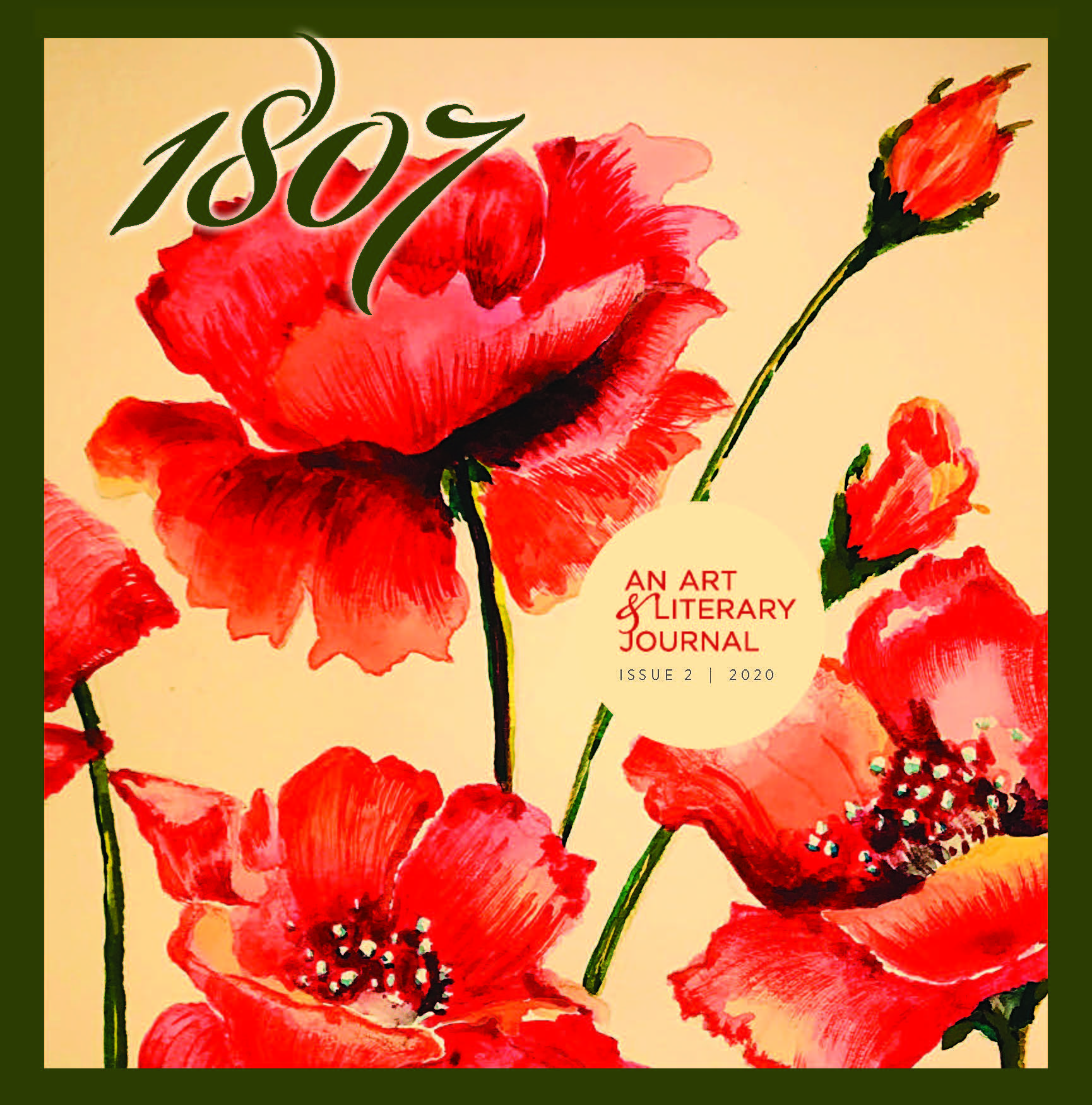 Cover of 1807 magazine with art of tulips