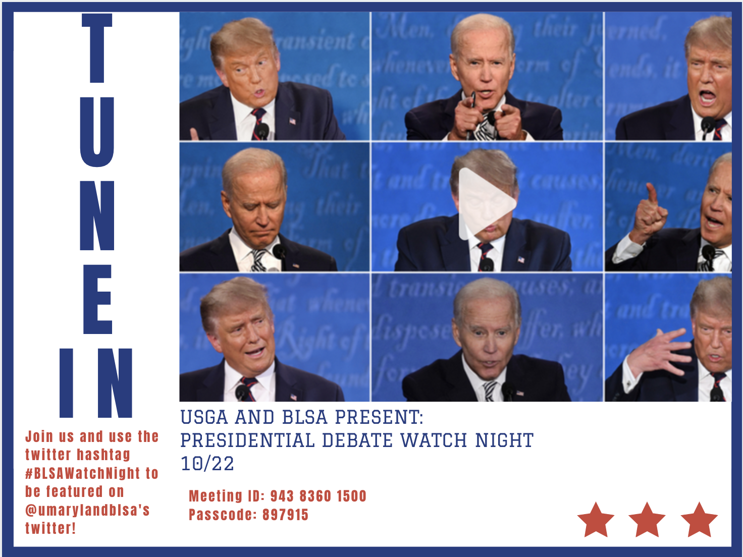 Debate Watch Night Flyer
