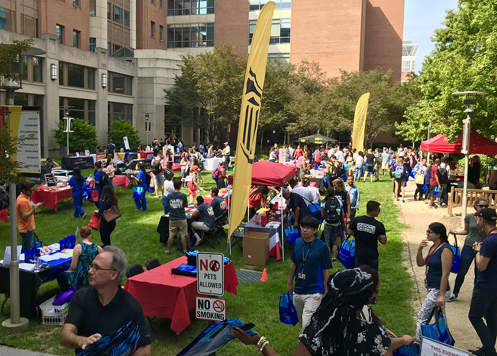 Fall Fest on the School of Nursing Lawn