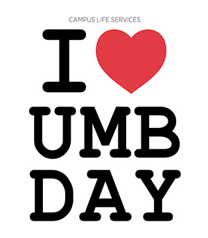 Text reads I Heart UMB Day