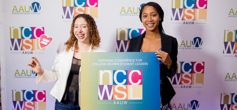 Two attendees of NCCWSL