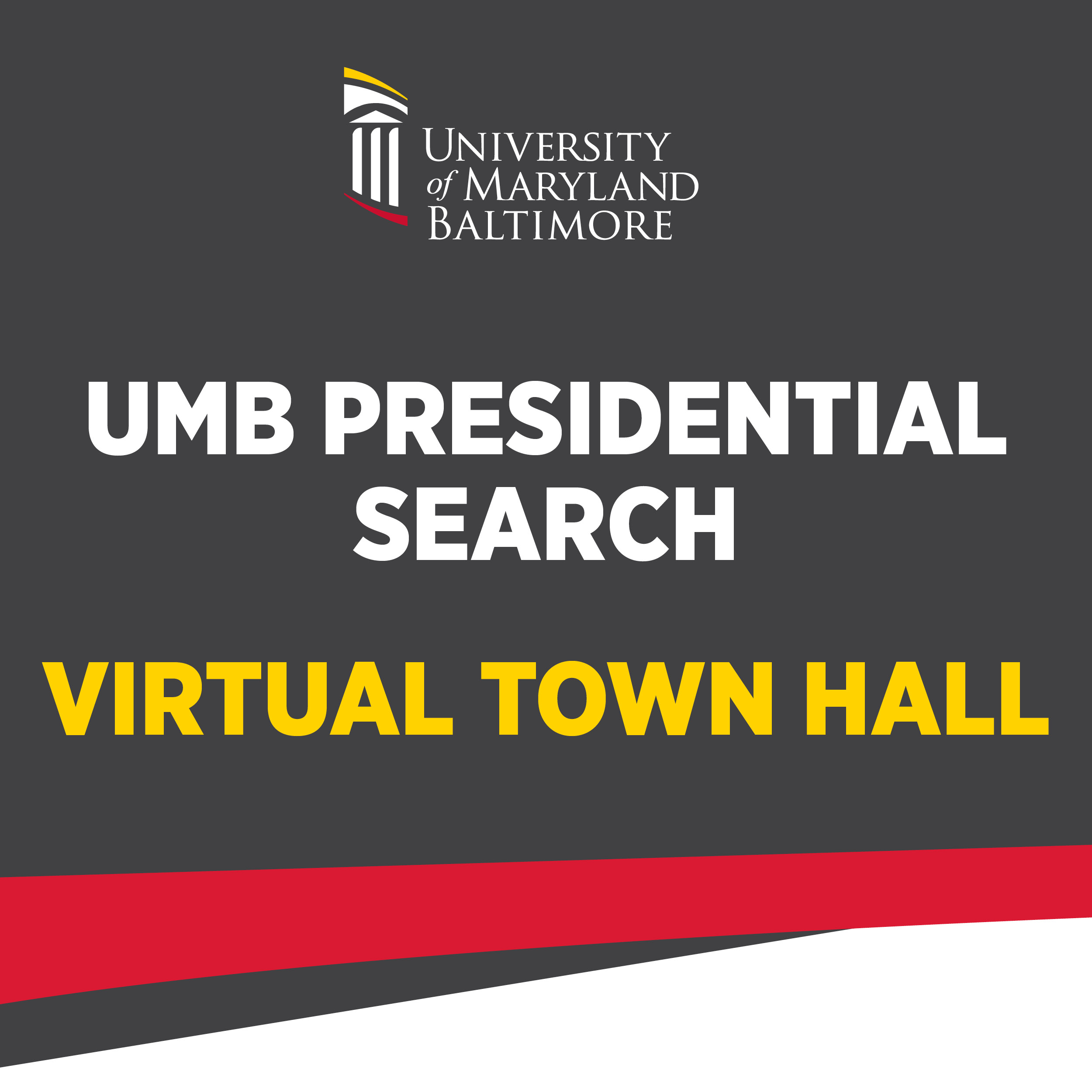 UMB Presidential Search Town Hall