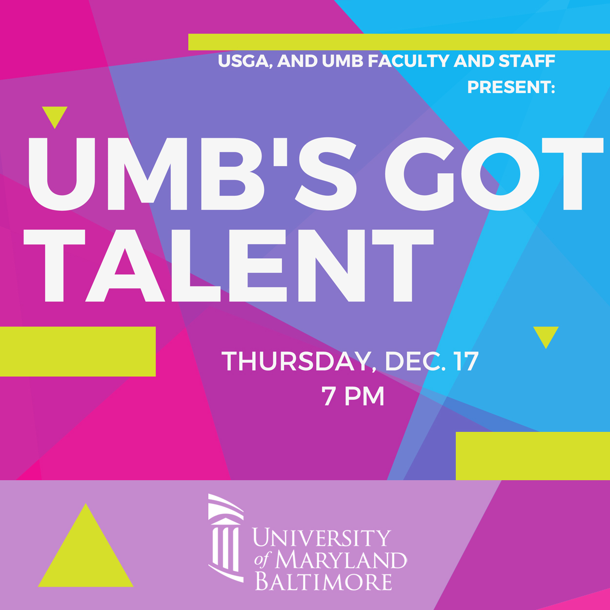 UMB's Got Talent logo