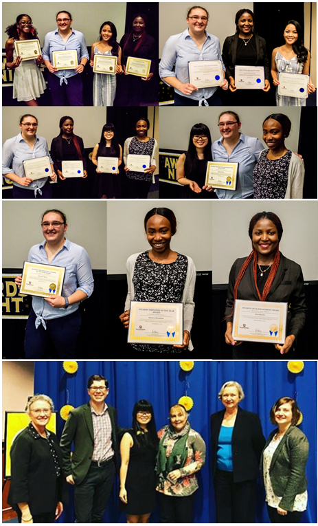 USG students with awards.