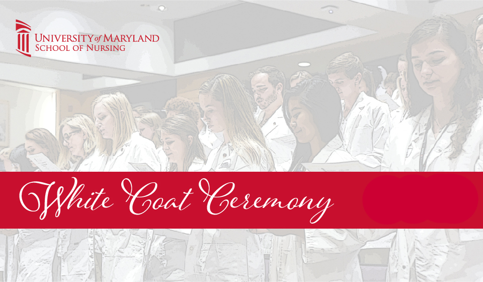 Students reciting the nursing oath at White Coat Ceremony