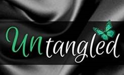 The word Untangled with green butterfly