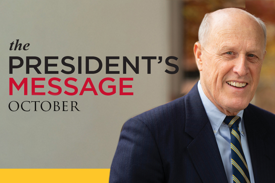 The President's Message-October