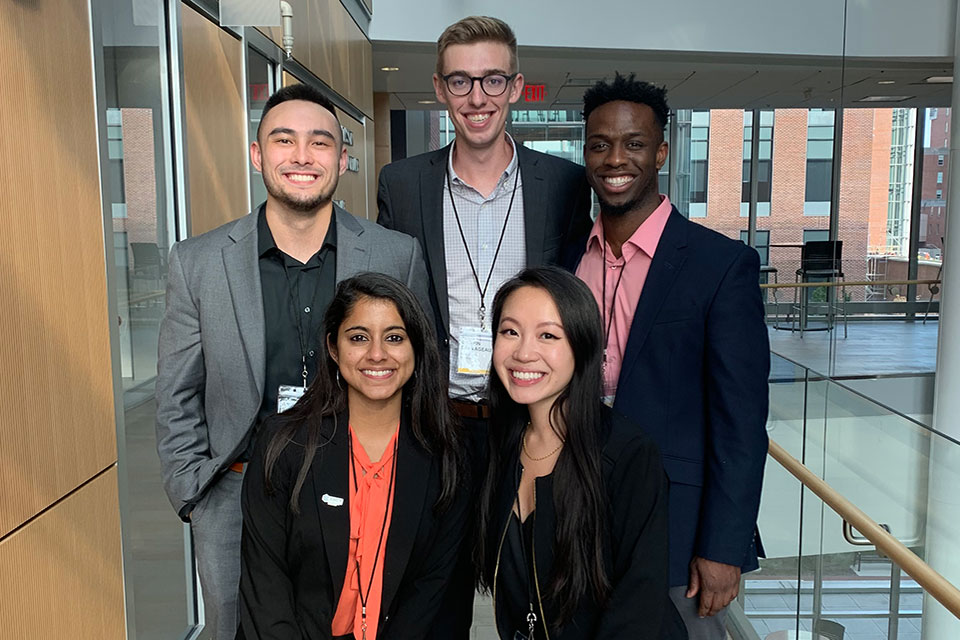 AMCP MARC Coordinators (From Left to Right): Andrew SyBing, Griffin Sauvageau, Michael Obineme, Bhavna Jois, and Karen Nguyen.