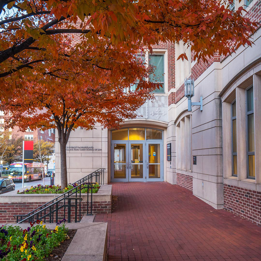 Picture of Maryland Carey Law in the fall